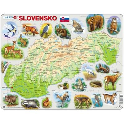Larsen-K73 Rahmenpuzzle - Slowakei (auf Slowakisch)