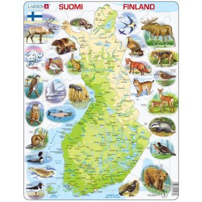 Larsen-K75 Rahmenpuzzle - Finnland (auf Finnisch)