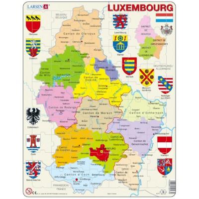Larsen-K77 Rahmenpuzzle - Luxemburg (auf Französisch)