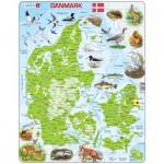 Larsen-K78 Rahmenpuzzle - Dänemark (auf Dänisch)