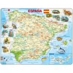 Larsen-K84 Rahmenpuzzle - Karte von Spanien (auf Spanisch)
