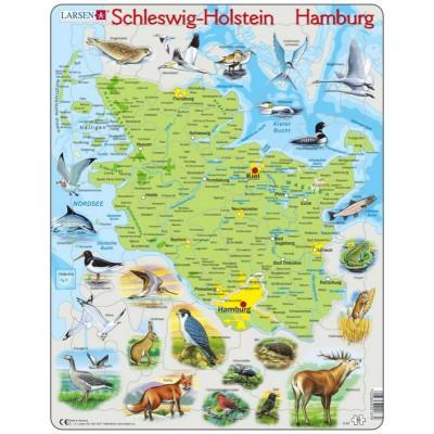 Larsen-K87 Rahmenpuzzle - Schleswig Holstein / Hamburg