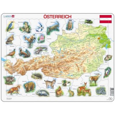 Larsen-K93 Rahmenpuzzle - Österreich