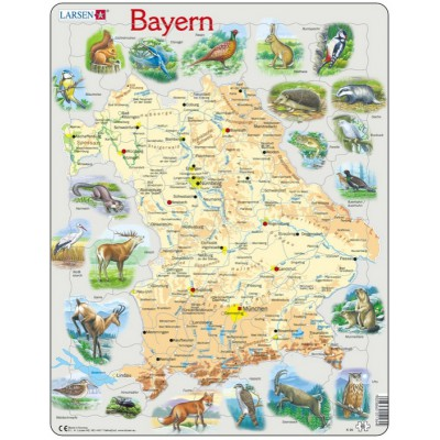 Larsen-K95 Rahmenpuzzle - Bayern