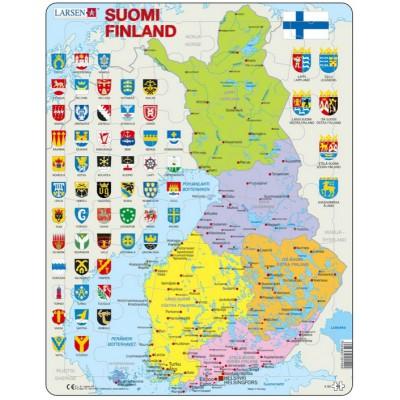 Larsen-K99 Rahmenpuzzle - Finnland (auf Finnisch)