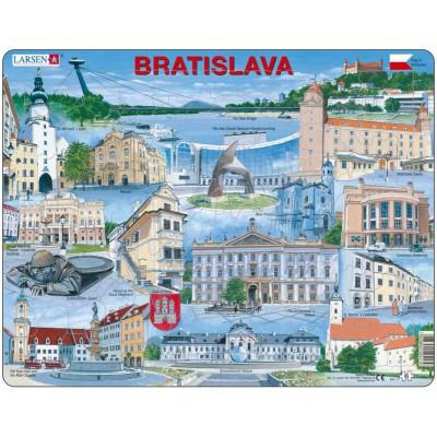 Larsen-KH17-EN Rahmenpuzzle - Bratislava (auf Englisch)