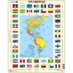 Puzzle  Larsen-KL4-GB Amerika + Flaggen