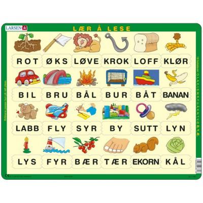 Larsen-LS11 Rahmenpuzzle - Norwegisch lesen lernen 3