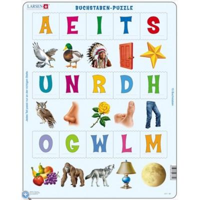 Larsen-LS2 Rahmenpuzzle - Buchstaben-Puzzle