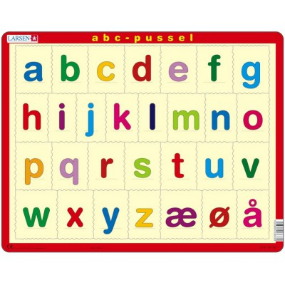 Larsen-LS33 Rahmenpuzzle - Das Alphabet (auf Norwegisch)