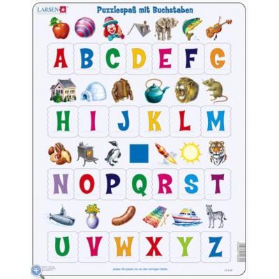 Larsen-LS8-DE Rahmenpuzzle - Puzzlespaß mit Buchstaben