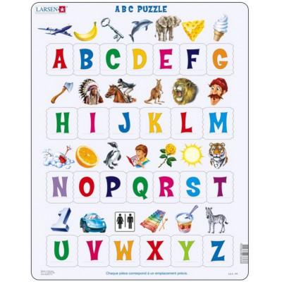 Larsen-LS8-FR Rahmenpuzzle - Das Alphabet (auf Französisch)