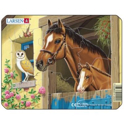 Larsen-M5-3 Rahmenpuzzle - Pferde