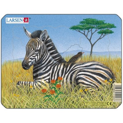 Larsen-M9-3 Rahmenpuzzle - Zebra