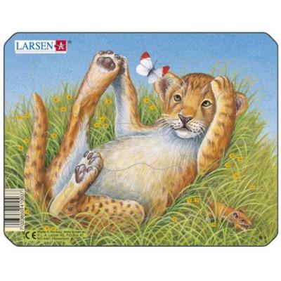 Larsen-M9-4 Rahmenpuzzle - Leopardenbaby