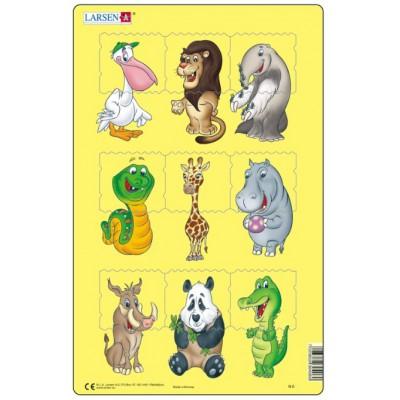 Larsen-N6-1 Rahmenpuzzle - Tierbabies