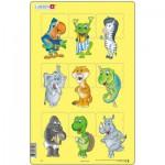 Larsen-N6-2 Rahmenpuzzle - Tierbabies