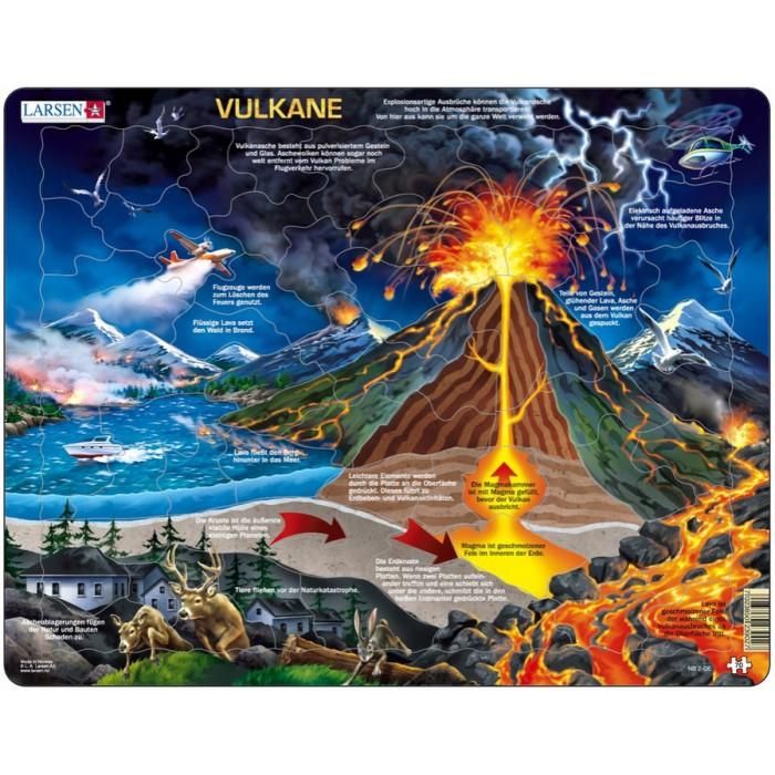 Rahmenpuzzle - Vulkan