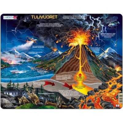 Larsen-NB2-FI Rahmenpuzzle - Vulkan (Auf Finnisch)