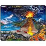 Larsen-NB2-GB Rahmenpuzzle - Vulkan (auf Englisch)