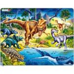 Larsen-NB3 Rahmenpuzzle - Dinosaurier