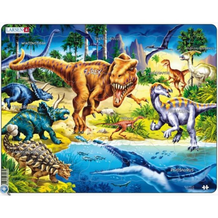Rahmenpuzzle - Dinosaurier