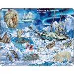 Larsen-NB7-FR Rahmenpuzzle - Abenteuer am Nordpol (auf Französisch)