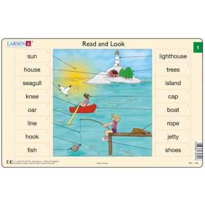 Larsen-RA1-1 Rahmenpuzzle - Read and Look 1 (auf Englisch)