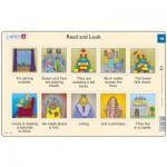 Larsen-RA10-19 Rahmenpuzzle - Read and Look 19 (auf Englisch)