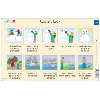 Larsen-RA10-20 Rahmenpuzzle - Read and Look 20 (auf Englisch)