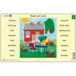 Larsen-RA2-4 Rahmenpuzzle - Read and Look 4 (auf Englisch)