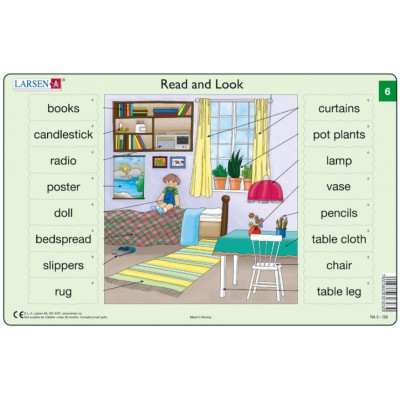 Larsen-RA3-6 Rahmenpuzzle - Read and Look 6 (auf Englisch)