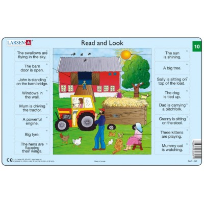Larsen-RA5-10 Rahmenpuzzle - Read and Look 10 (auf Englisch)