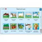 Larsen-RA6-12 Rahmenpuzzle - Read and Look 12 (auf Englisch)