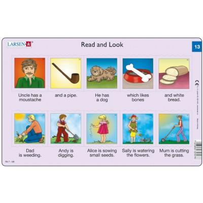 Larsen-RA7-13 Rahmenpuzzle - Read and Look 13 (auf Englisch)