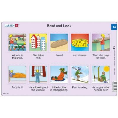 Larsen-RA7-14 Rahmenpuzzle - Read and Look 14 (auf Englisch)