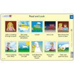 Larsen-RA8-15 Rahmenpuzzle - Read and Look 15 (auf Englisch)