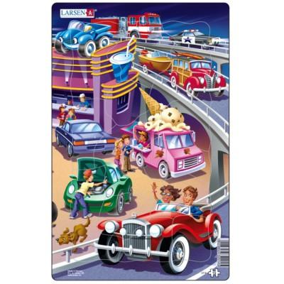 Larsen-U14-1 Rahmenpuzzle - Autos