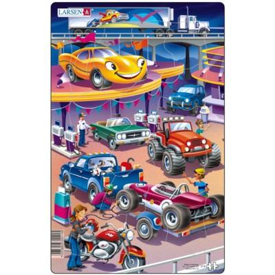 Larsen-U14-2 Rahmenpuzzle - Autos
