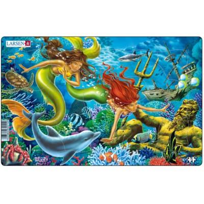Larsen-U15-2 Rahmenpuzzle - Meerjungfrauen
