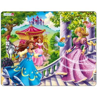 Larsen-US10 Rahmenpuzzle - Prinzessinnen