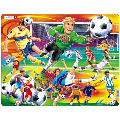 Larsen-US22 Rahmenpuzzle - Fußball