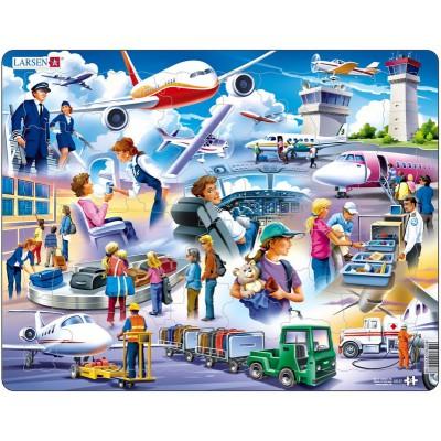 Larsen-US27 Rahmenpuzzle - Flughafen