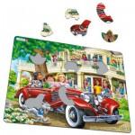 Larsen-US35 Rahmenpuzzle - Cabriolet Girls
