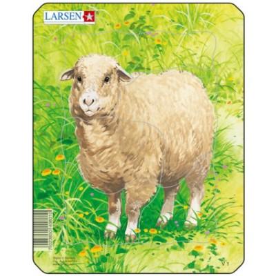 Larsen-V1-2 Rahmenpuzzle - Schaf