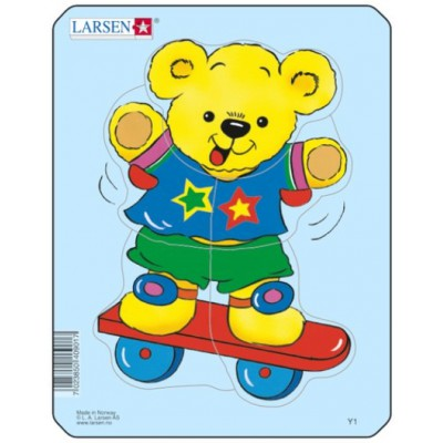 Larsen-Y1-2 Rahmenpuzzle - Teddybär