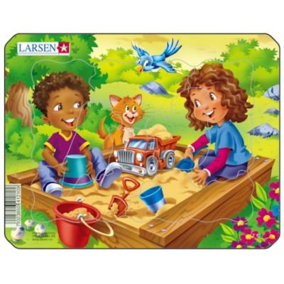 Larsen-Z10-3 Rahmenpuzzle - Spielplatz