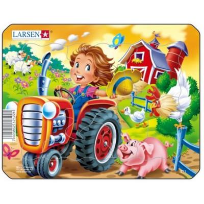Larsen-Z11-2 Rahmenpuzzle - Traktor