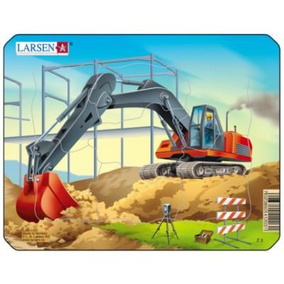 Larsen-Z3-1 Rahmenpuzzle - Bagger