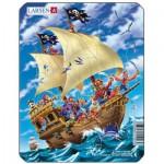Larsen-Z7-3 Rahmenpuzzle - Piratenschiff